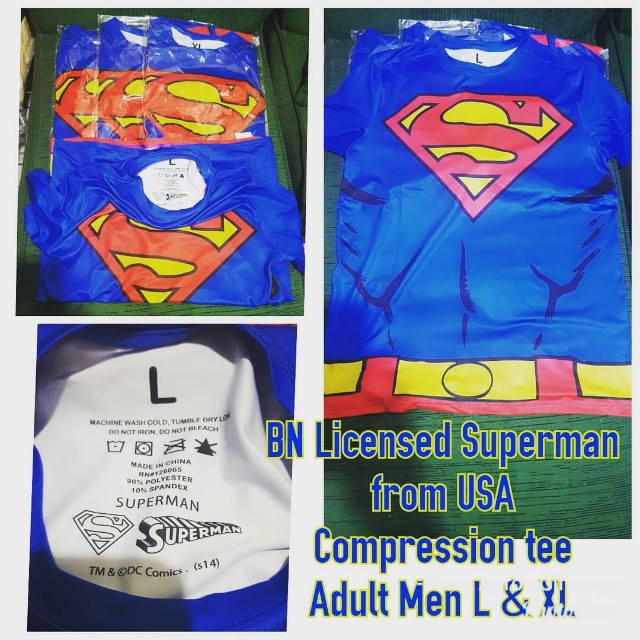 BRAND NEW Superman Compression Tee for Men LICENSED FROM USA