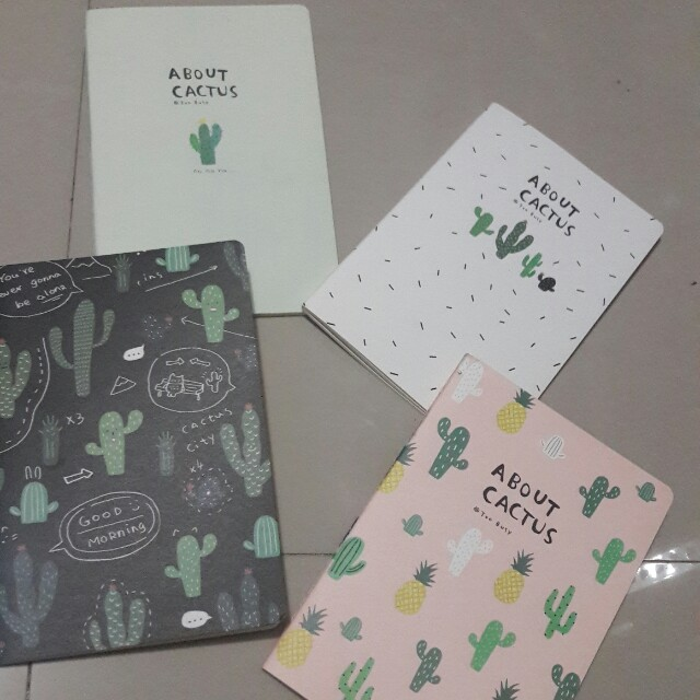Cactus Notebook available in 4 designs