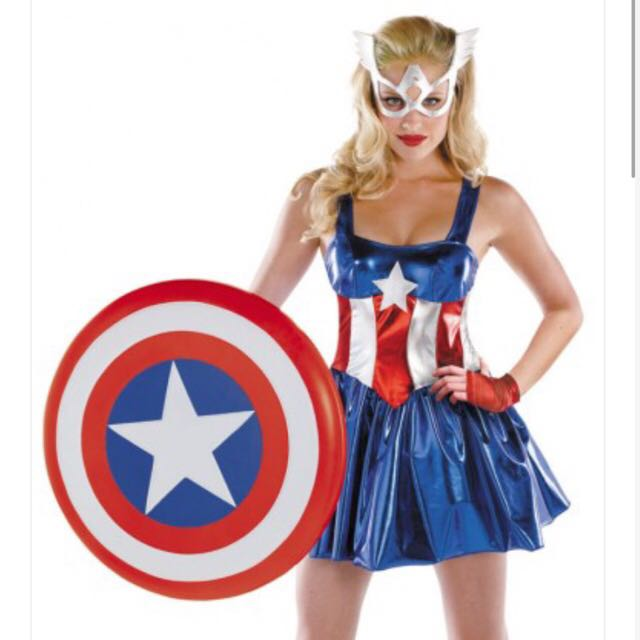Captain America Dress Costume Cosplay