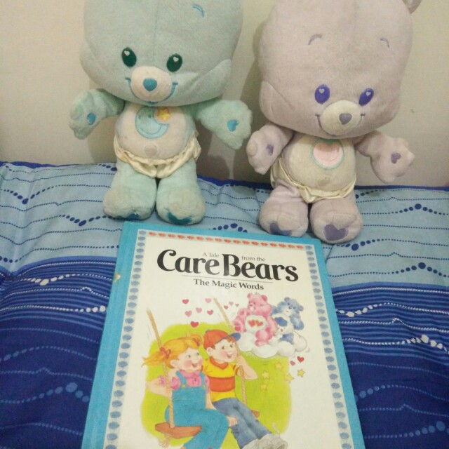 Care Bear set of 2 with book