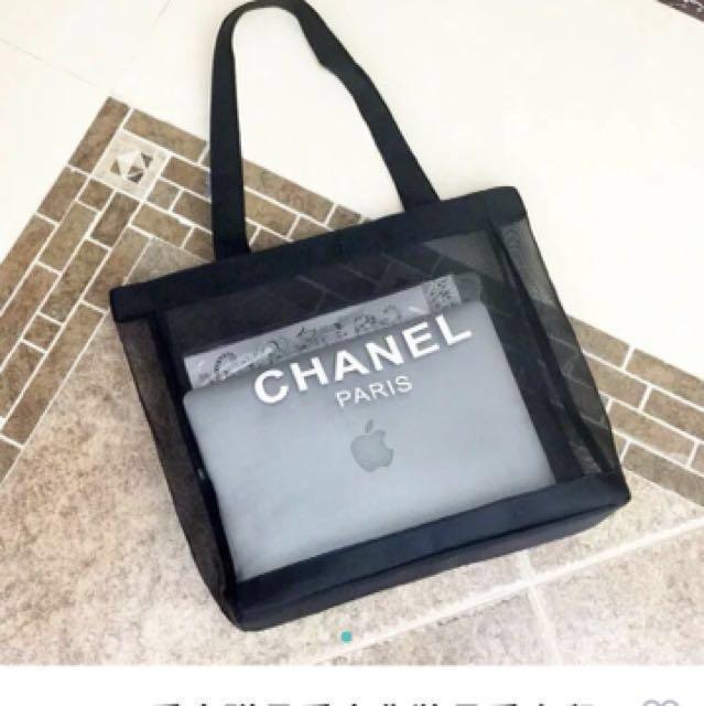 Chanel專櫃贈品網紗提袋包#好物免費送