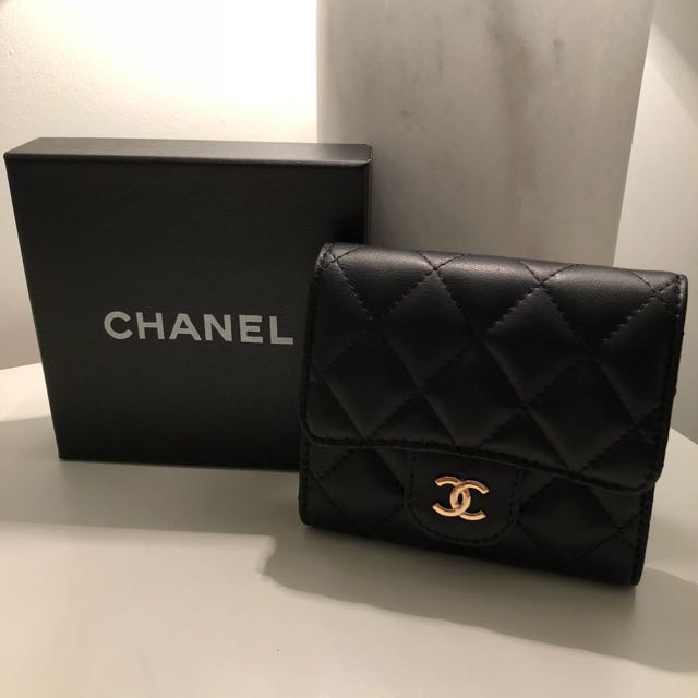 Chanel Black Small Flap Wallet