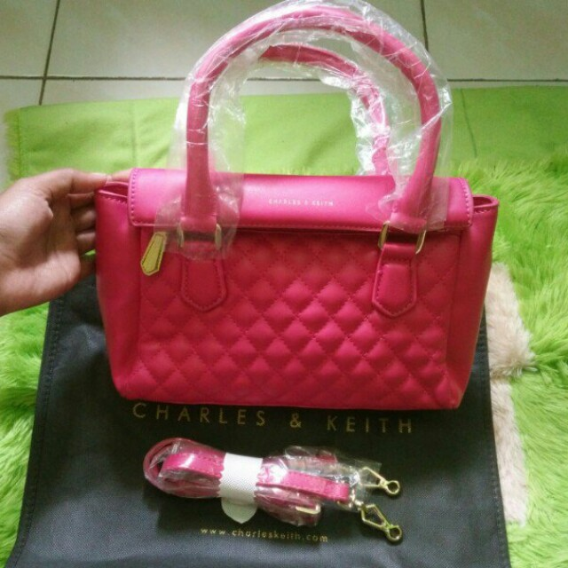Charles and Keith Bag Pink Ori