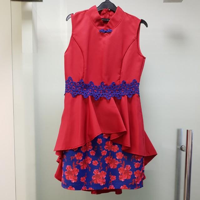 Cheong Sam dress CNY merah