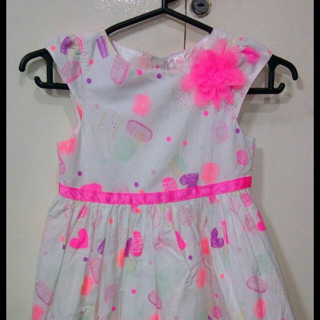 Cherokee pink white floral dress