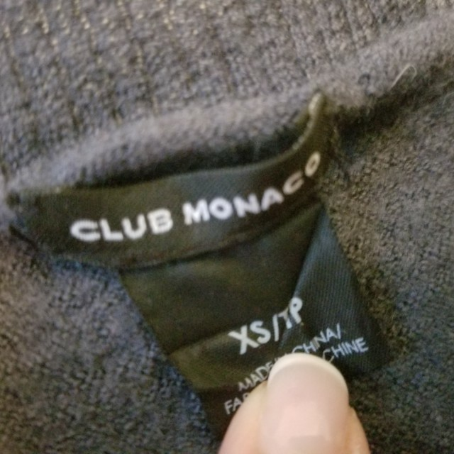 Club Monaco v neck sweater. Merino wool. Size xs. Purchased for $89. Pick up Yorkville or Beaches. Yes its available. Ad will be removed once sold. Message with preferred location and pickup date and time. Priced to sell.