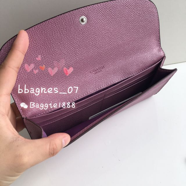 963275e858 ... low cost coach f11835 soft wallet in glitter crossgrain leather womens  fashion bags wallets on carousell