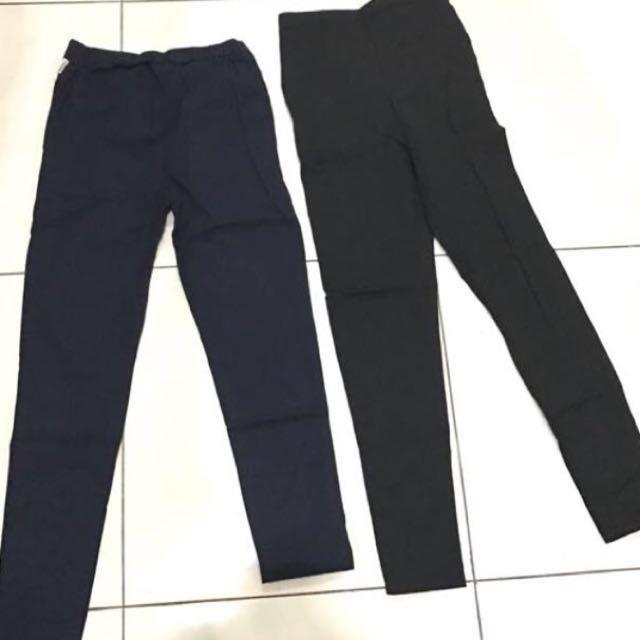 Cotton Pants Black & Navy