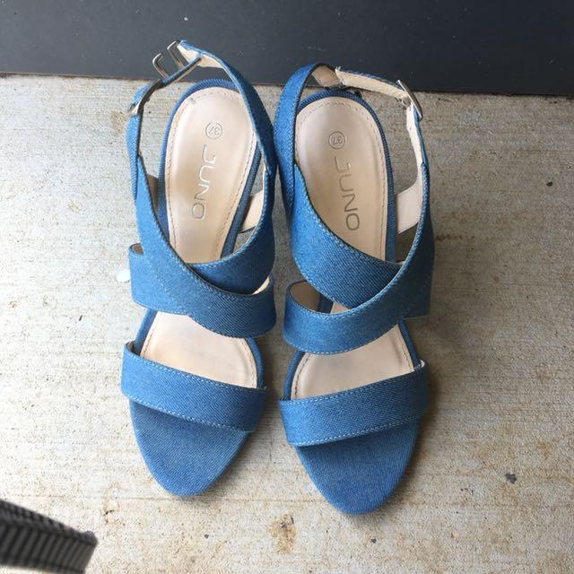 Denimed heels
