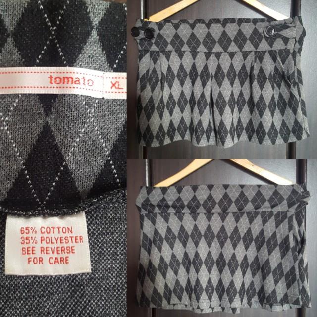❤Diamond Print Pleated Skirt