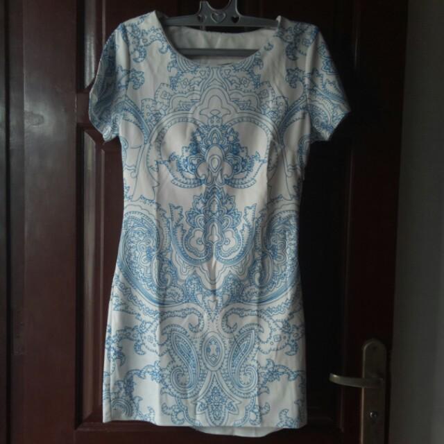 Dress import motif batik