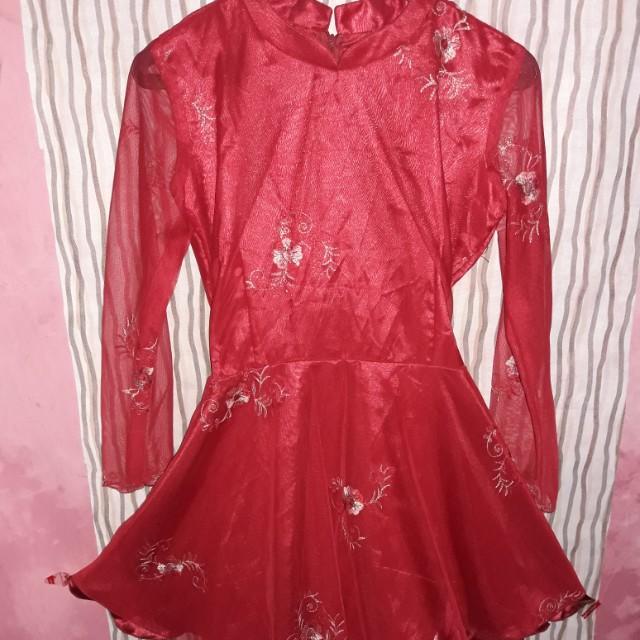 Dress merah fit m