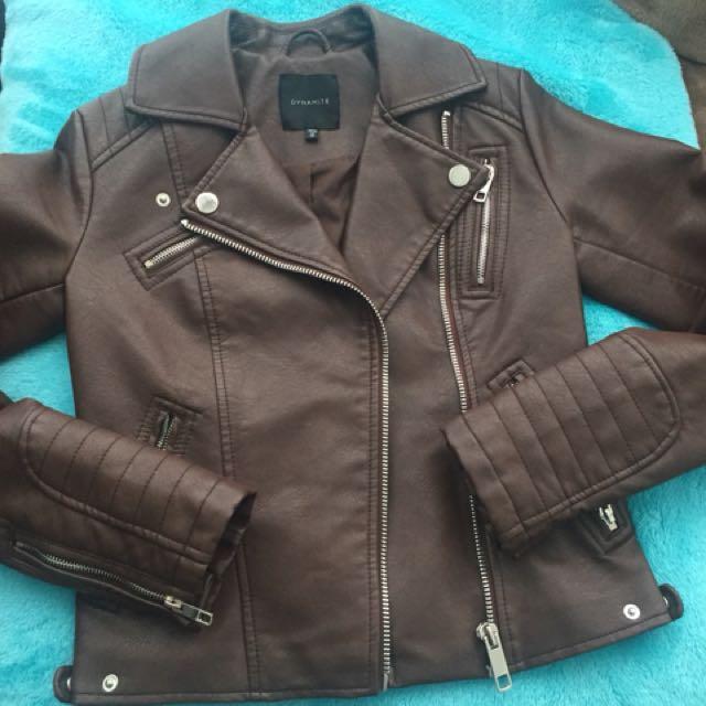 Dynamite Faux Leather Jacket XS