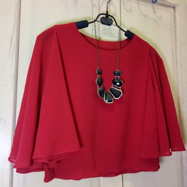 Elegant Red layer blouse