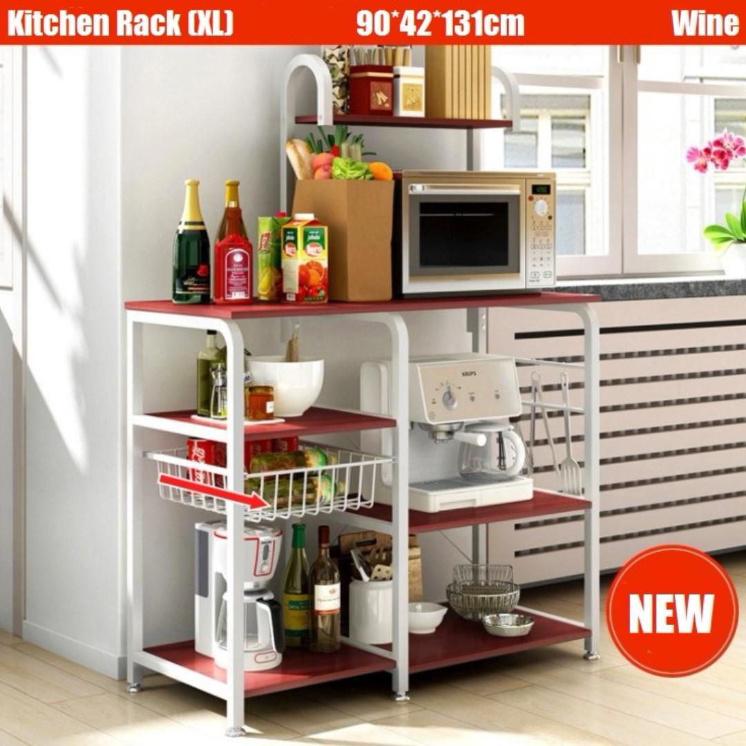 Extra Kitchen Shelves: EXTRA Large Wine Kitchen Rack Storage Organizer Holder
