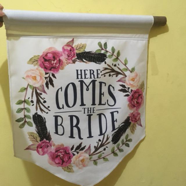 Flag here come bride