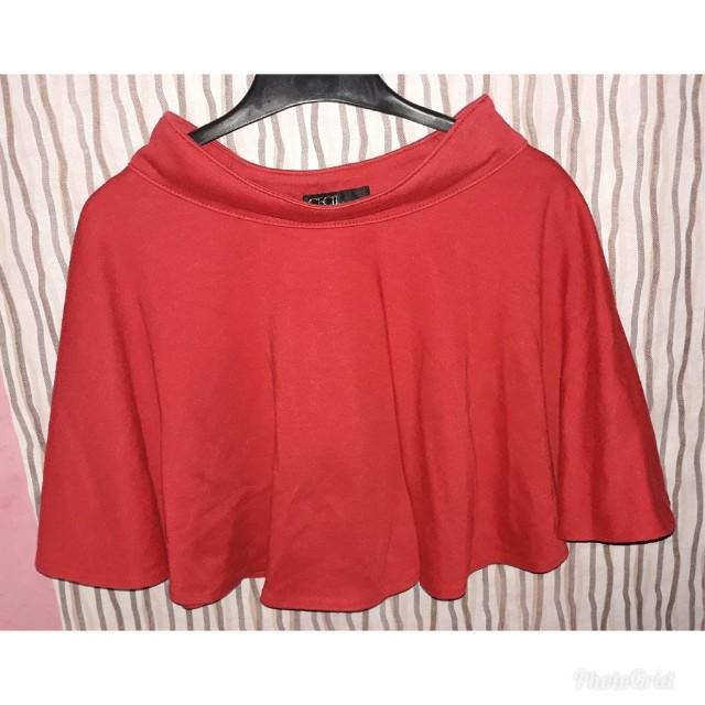 Flare skirt rok merah