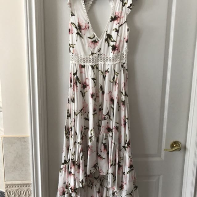 Floral hi-low dress