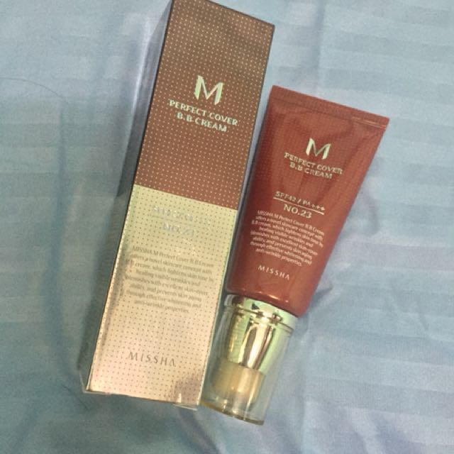 FOR SALE MISSHA M PERFECT COVER BB CREAM SPF42 No.23 WITH FREE ETUDE LIPTINT