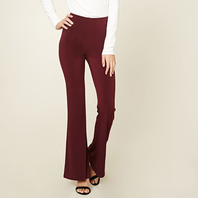 Forever 21 Stretch-Knit Flared Pants