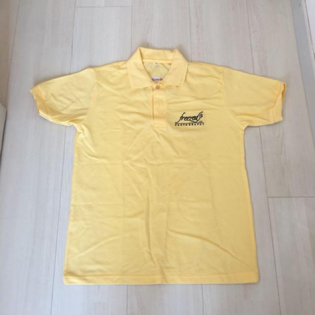 Free! Men's Yellow Polo Tee