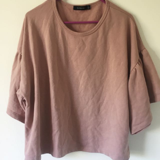 Glassons frilly pink t shirt