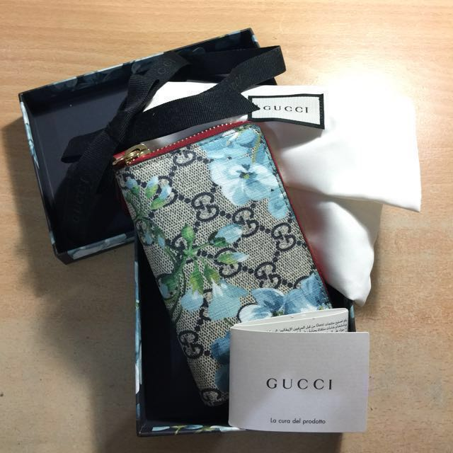 🔥Gucci Limited Edition Blue Blooms Cardholder