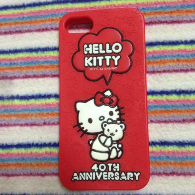 Hellokitty40週年iphone5,5s手機殼手機套