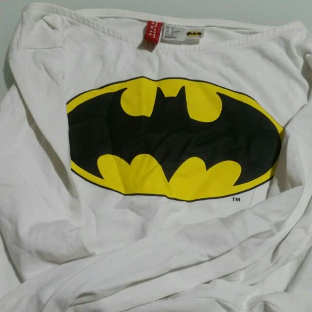 8a388d886a4 H&M BATMAN LONG SLEEVE CROP TOP, Women's Fashion, Clothes, Tops on ...