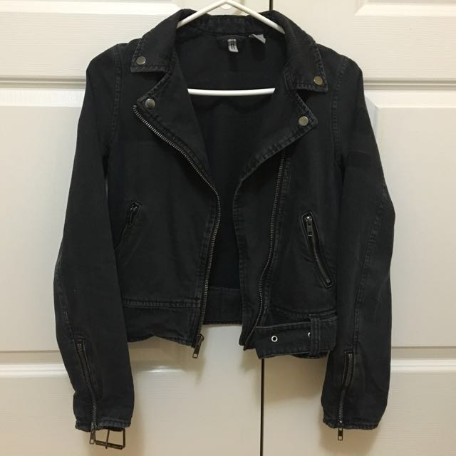 H&M Denim Biker Jacket Size 2