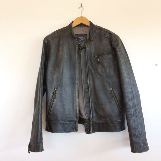 Industrie leather bomber jacket