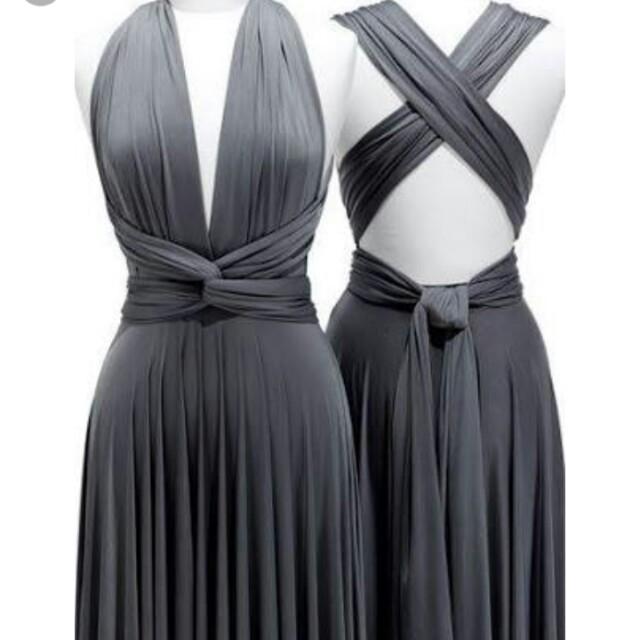 Infinity Long Dress Dark Gray Used Once