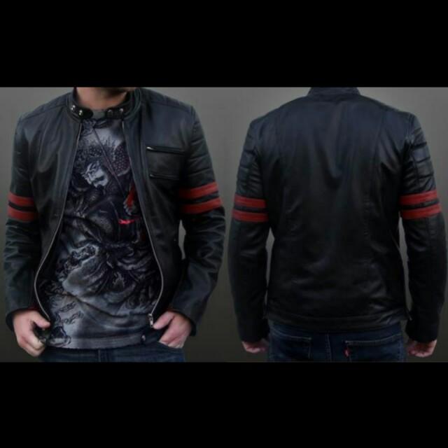 Jaket kulit wolverine black