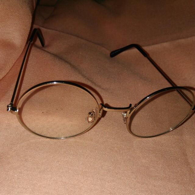 Kacamata bulat silver