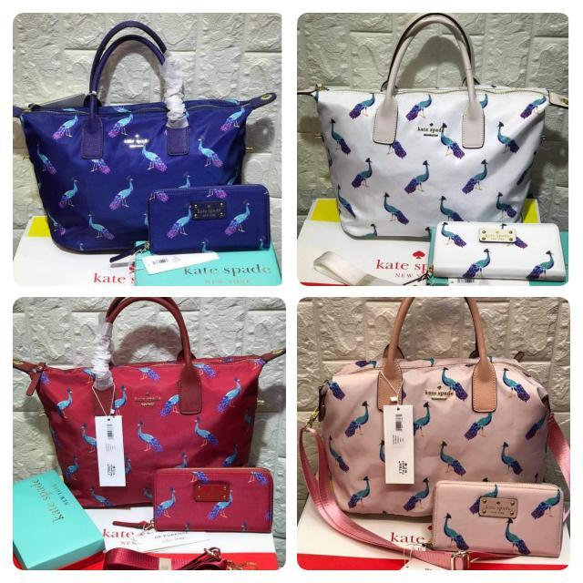 Kate Spade Peacock Design Bag and wallet