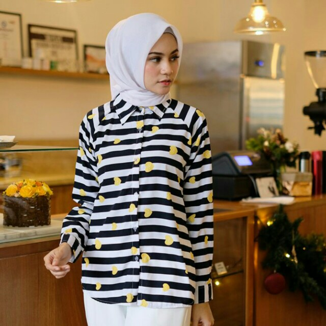 Kemeja motif, pattern shirt stripe