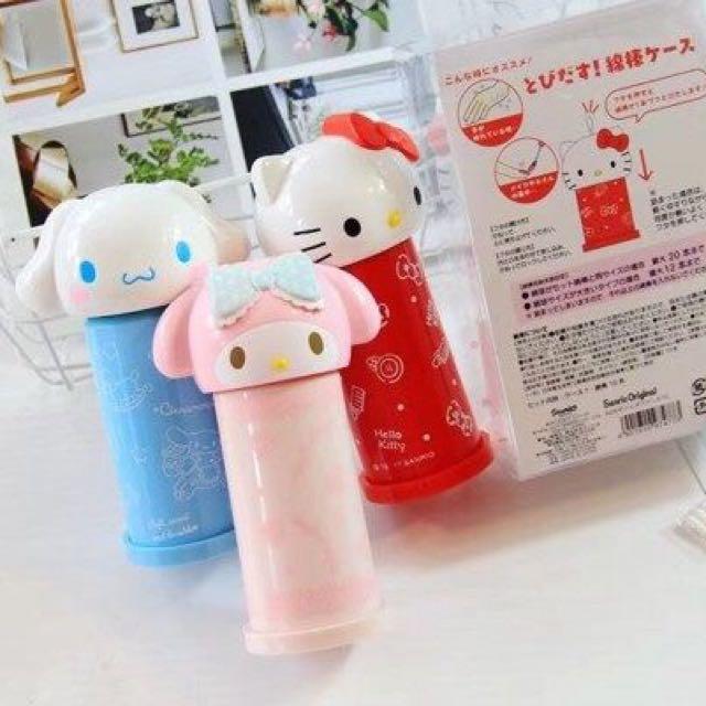 日本三麗鷗系列棉花棒罐kitty/大耳狗/布丁狗/美樂蒂