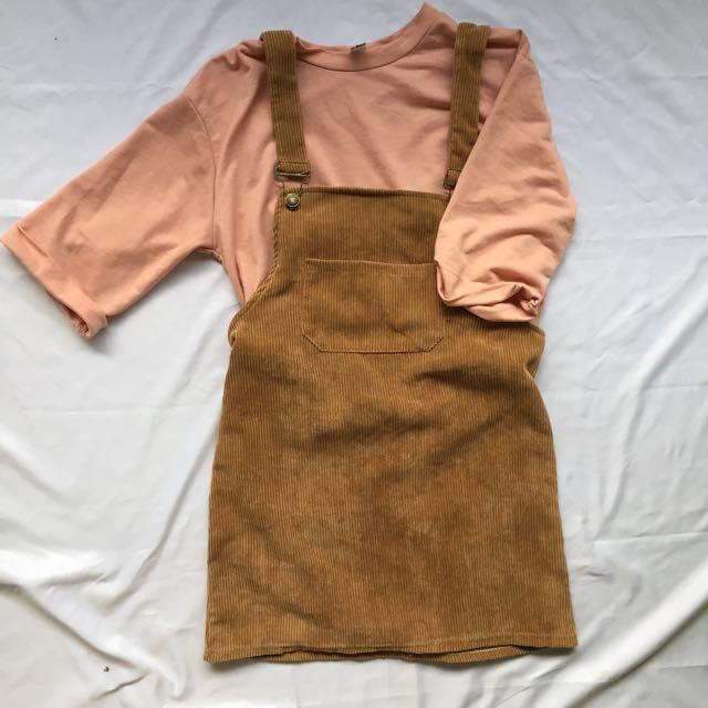 Korean Pinafore Dress