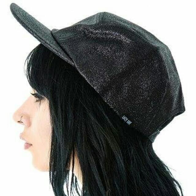 英國品牌Lazy Oaf 金蔥黑色帽