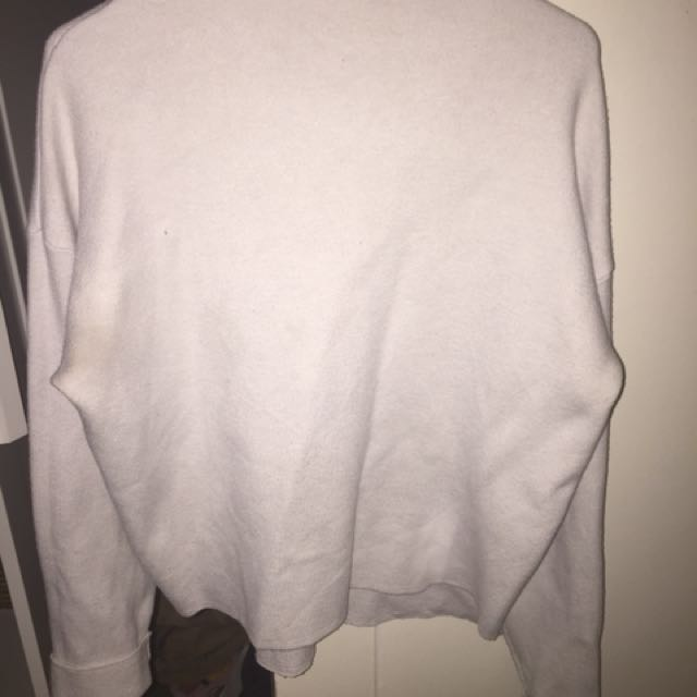 Little lost land creamy white long sleeve high neck jumper