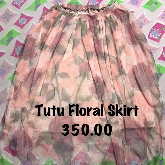 Little Miss floral tutus skirt