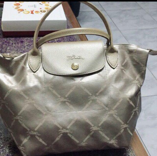 正品Longchamp 經典款菱格款手提包