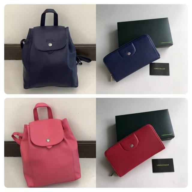 Longchamp Backpack And Wallet
