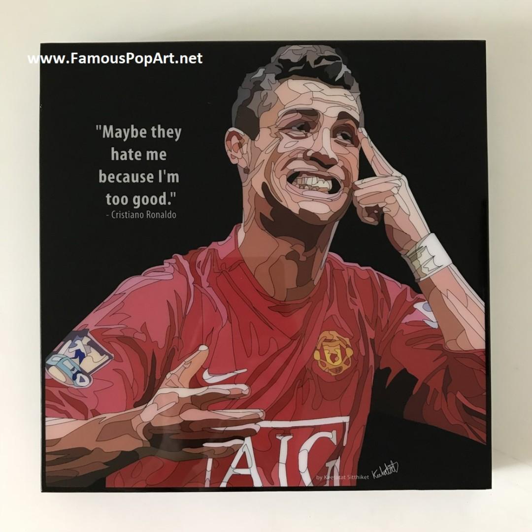 MANCHESTER UNITED Ronaldo PopArt! Portrait Wall Deco Pop Art