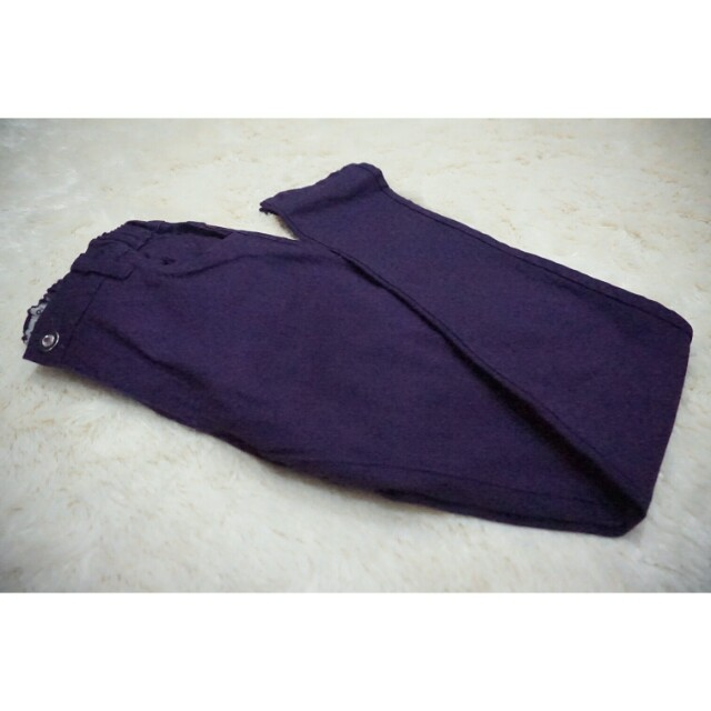 Maternity pants purple