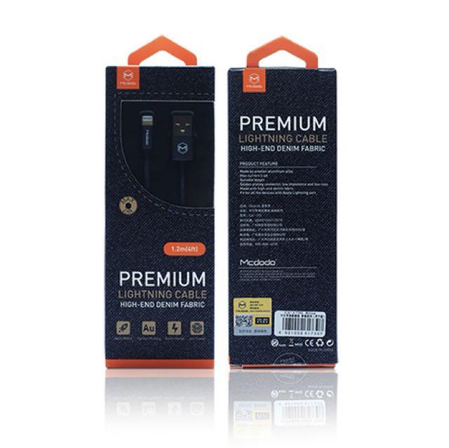 Mcdodo Kabel Data Denim Iphone 5/6/7/8/X Ipad Mini Ipod