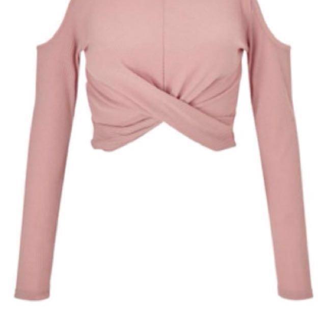 Miss Selfridge pink cropped top #midjan55