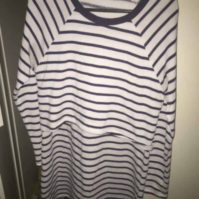 MissShop layered stripe dress