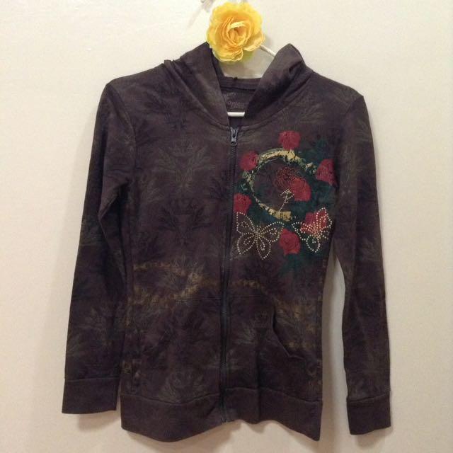 New:Brown hoodie jacket
