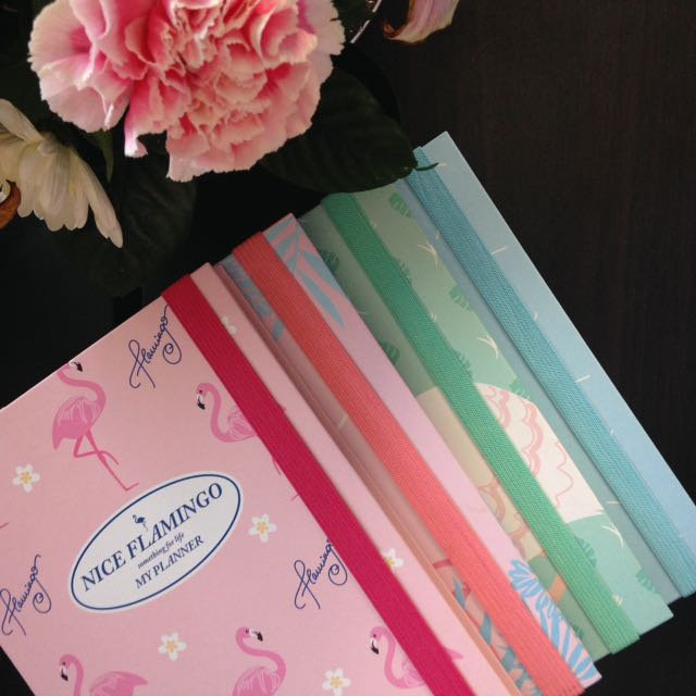 Nice Flamingo Planners Free Bookmark and sticker